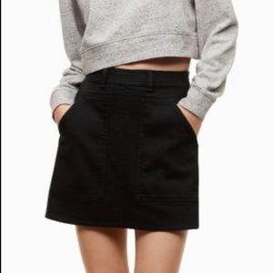Aritzia Wilfred Free Penske Denim Mini Skirt